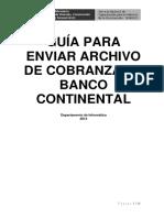 Guía Para Enviar Archivo de Cobranza Al Banco Continental