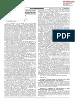 Decreto Supremo que modifica el Plan de la reconstrucción aprobado mediante Decreto Supremo N° 091-2017-PCM y modificatorias