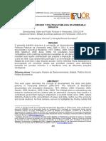 DESARROLLO, ESTADO Y POLÍTICAS PÚBLICAS EN VENEZUELA