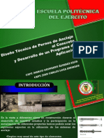 Diseño Técnico de Pernos de Anclaje Al Concreto.Álvarez, Loza