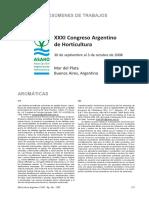 XXXI Congreso Argentino de Horticultura
