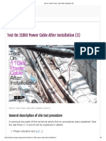 Test on 110kV Power Cable After Installation