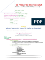 SPP Clasa a IX-A - Alimentatie - Modul III