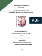Investigacion Formativa - Banco de Sangre