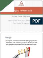 Riesgo y Rentabilidad - Enrique Quispe Ayala