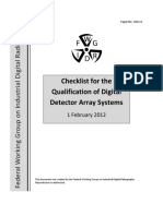 2012-02-01 FWGIDR 10 Checklist for the Qualification of Digital Detector Array Systems
