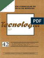 Renovación Currlcular en La Provincia de Mendoza La Tecnologia Para El Nivel Inicial, Primer y Segundo Ciclo de La Educación