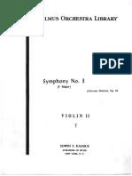 20. Brahms Johannes - Symphony 3, Violin 1