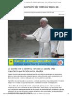 Papa Diz Que é Importante Não Relativizar Regras Da Igreja - Portal Da Teologia _ Portal Da Teologia