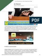 Curso de Formação Pastoral - Portal Da Teologia _ Portal Da Teologia