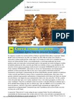 Paulo e as _Obras Da Lei_ - Portal Da Teologia _ Portal Da Teologia
