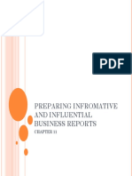 Preparing Infromative and Influential Business Reports
