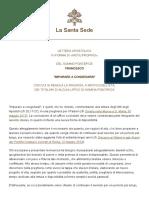 Papa Francesco Motu Proprio 20180212 Imparare a Congedarsi