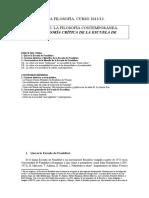 Tema 16 La Teoría Crítica de La Escuela de Frankfurt