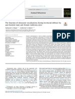 The Function of Ultrasonic Vocalizations During Territorial Defence By