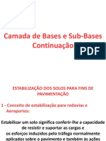 Camada de Bases e Sub-Bases