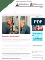 Mantenimiento en Instalaciones Eléctricas - Constructor Eléctrico