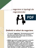 Stiluri de Negociere Si Tipologii Ale Negociatorului