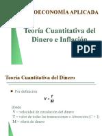 Teoría Cuantitativa Del Dinero e Inflación
