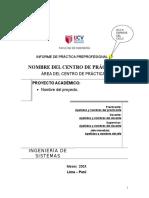 1 Estructura Del Informe Final de Prácticas Preprofesionales.