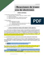 Apuntes Del Tema 5 (Reacciones de Transferencia de Electrones)