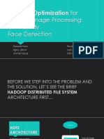 Hadoop Optimization for Massive Image Processing