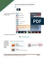 Creación de Clave o Contraseña Para Usuario de Windows 7