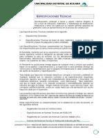 Especificaciones Tecnicas Rio Pampamarca