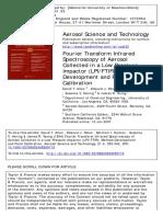Aerosol Science & Technology Volume 21 Issue 4 1994 Allen, David T.; Palen, Edward J.; Haimov, Mitchell I.; Hering, -- Fourier Transform Infrared Spectroscopy of Aero