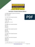 Fatoracao e Produtos Notaveis Básicos
