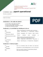Compania Anului - Model de Raport Operational