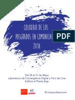 Coloquio de Los Posgrados en Comunicación 2018 - Maestría[1]