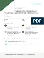 Cap.14.Managementulresurselorumaneinorganizatiiledinromania Totcapitolul (1)