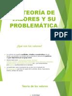 La Teoría de Valores y Su Problemática