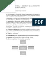 Organización Industrial y Crecimiento de La Estructura Orgánica de La Empresa Automotriz