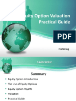Explaining Equity Option Product and Valuation