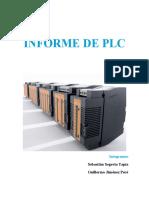 INFORME PROGRAMACIÓN DE PLC