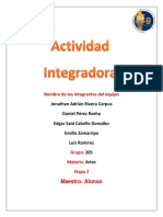 Integradora Artes Etapa 3