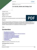 Trucco, Humberto - Teoría de La Posesió Inscrita, Dentro Del Código Civil Chileno