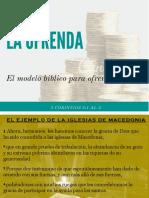 El Modelo Biblico Para Ofrendar
