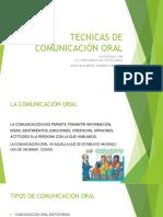 Tecnicas de Comunicación Oral.
