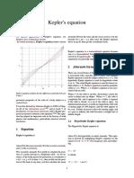 Kepler's Equation