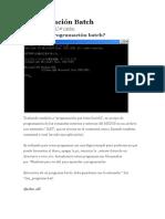 Programación Batch