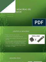 Memorias RAM /ROM Pc