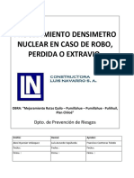 Procedimiento Densimetro Nuclear, En Caso de Robo