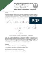 Síntesis de ácido benzóico