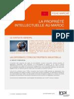 La Propriété Intellectuelle Au Maroc