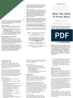 Prenatal Infection Prevention Brochure