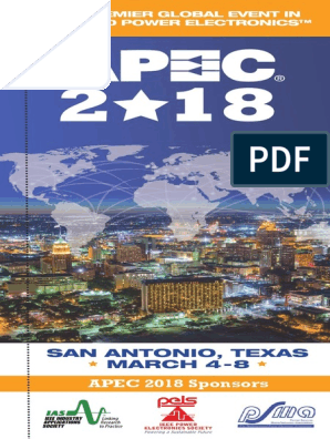 APEC 2018 Program Book_Website pdf | Electronic Engineering