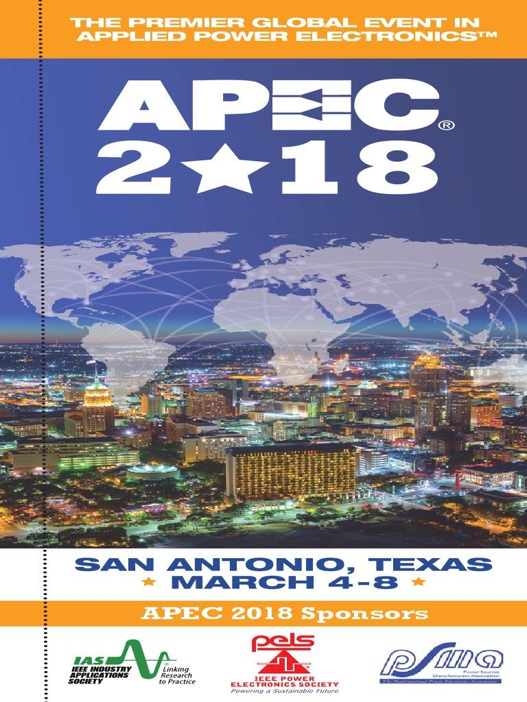 Apec 2018 Program Book Website Pdf Electronic Engineering Electromagnetism